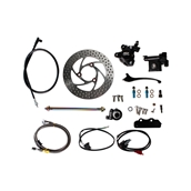 NCY Front End Disc Conversion Kit (Black Caliper); RuckusS