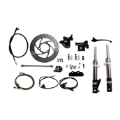 NCY Front End Kit (Titanium Grey, No Rim); Honda RuckusS