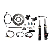 NCY Front End Kit (Black Forks, No Rim); Honda RuckusS