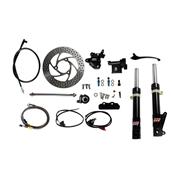 NCY Front End Kit (Black Forks, No Rim); Honda RuckusS