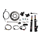 NCY Front End Kit (Carbon Fiber, No Rim); Honda RuckusS