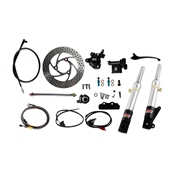 NCY Front End Kit (Silver Forks, No Rim); Honda RuckusS