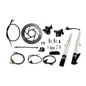 NCY Front End Kit (Silver Forks, No Rim); Honda RuckusS