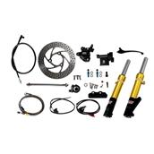 NCY Front End Kit (Gold Forks, No Rim); Honda RuckusS