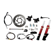 NCY Front End Kit (Red Forks, No Rim); Honda RuckusS