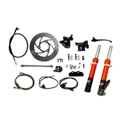 NCY Front End Kit (Orange Forks, No Rim); Honda RuckusS