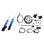 NCY Front End Kit (Blue Forks, No Rim); Honda RuckusS