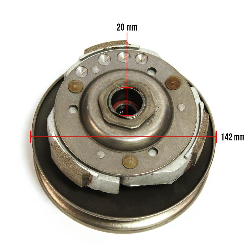 Maddog 150 Clutch and Pulley Dimensions