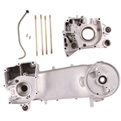 Blue Line GY6 Engine Case Assembly (Long): CompleteS