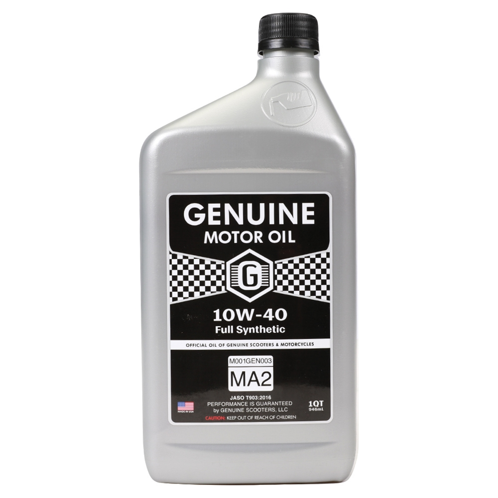 Genuine 4T Motor Oil (10W40, Full Synthetic MA-2); 1 Quart