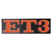 Emblem (rear) ;  ET3S