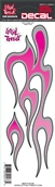 Decal/Sticker, Pink Flame Left - 3 x 10