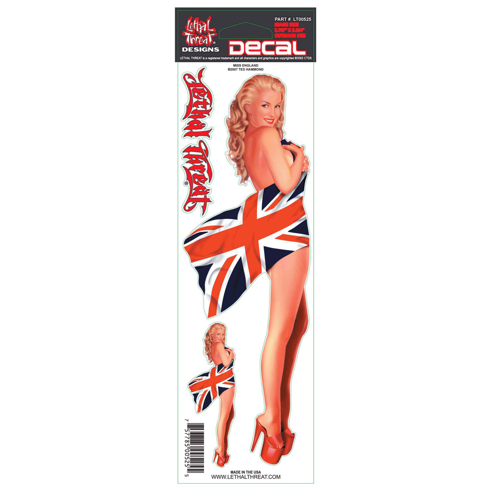 Decal/Sticker, Miss England - 3 x 10""