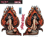 Decal/Sticker, Ace Pin Up Girl - 6 x 18