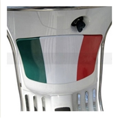 Glovebox Flag Sticker (Italian ); Vespa LXS