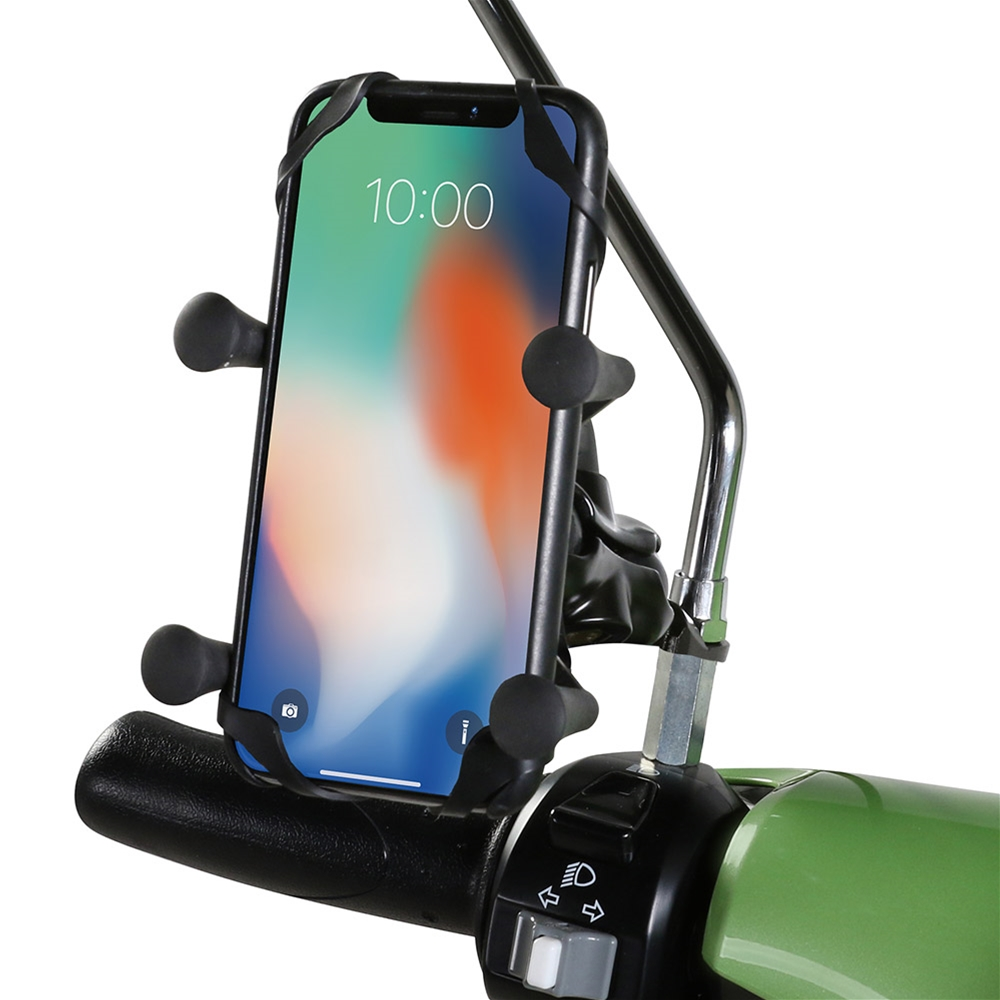 Prima Cell Phone Holder (Mirror and Handlebar Mount)