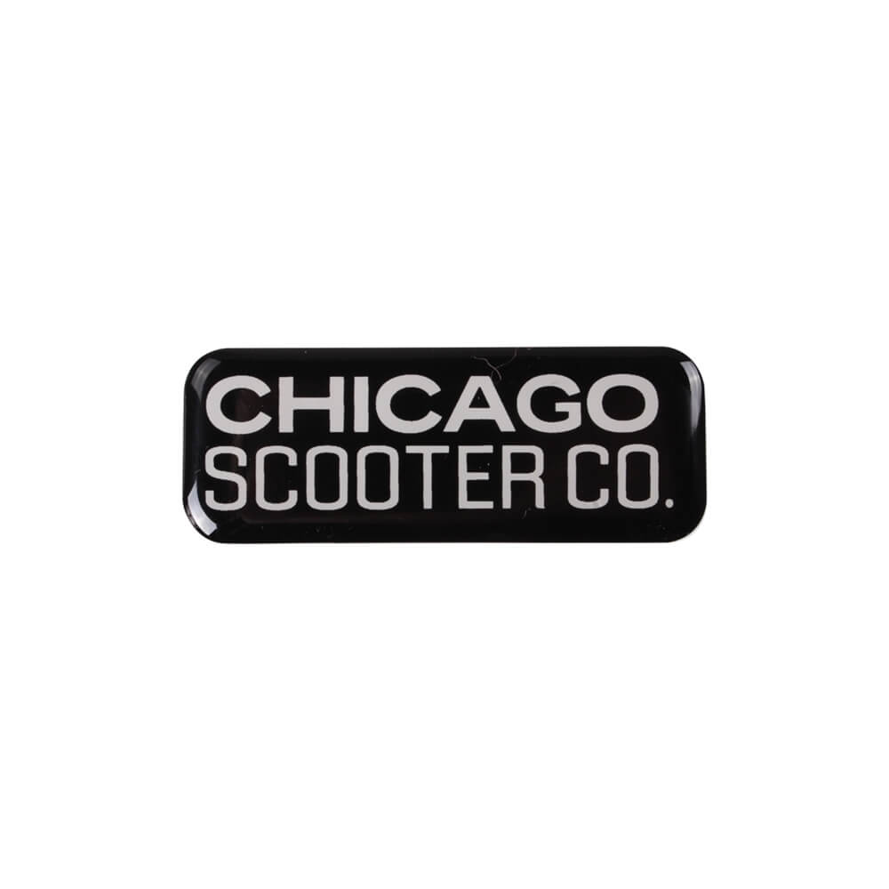 Decal (Chicago Scooter Company, Small); CSC go.