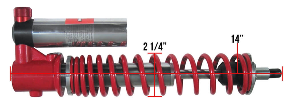 Bitubo Front Shock Dimensions