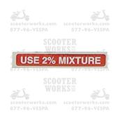 Gas Cap Decal  (Use 2% Mixture); V5A,V9A,VMA,VNC,VBCS