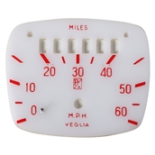 Dial Plate (White with Red Lettering); VNAS
