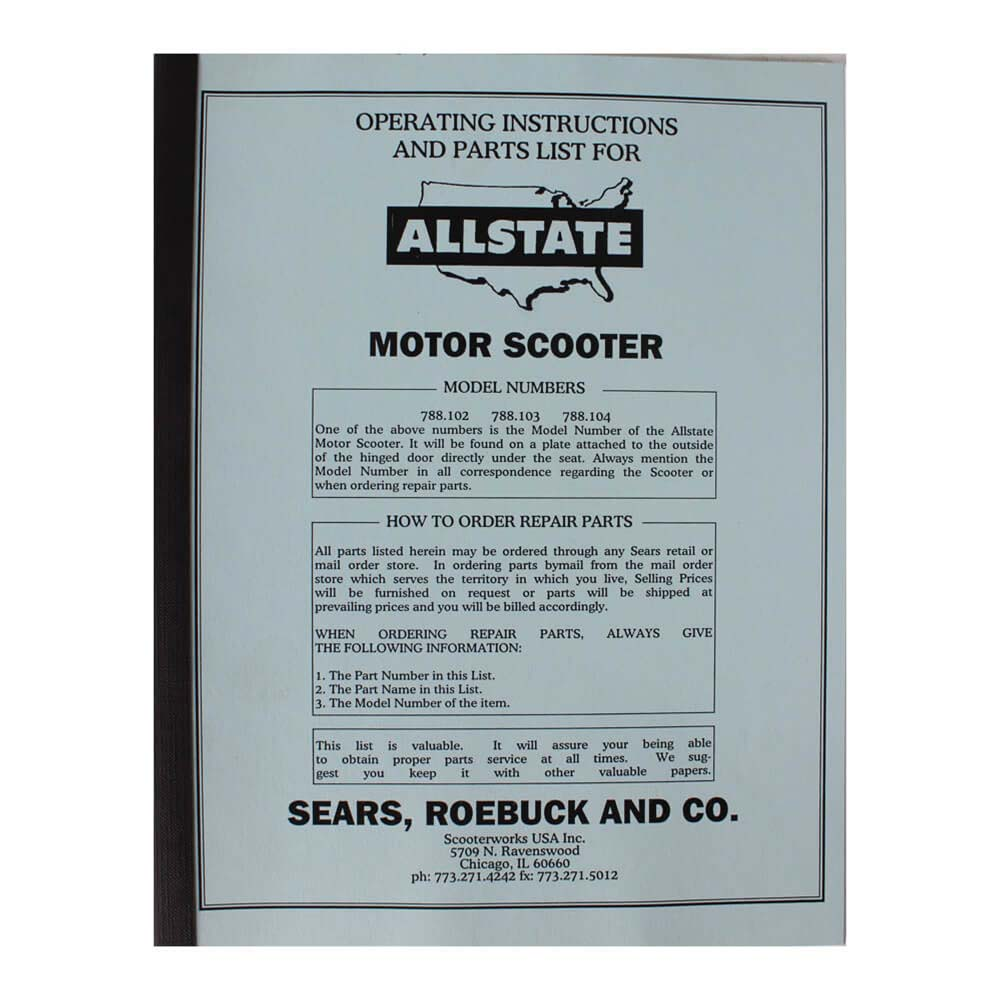 Allstate Manual (Parts Guide); 102-104