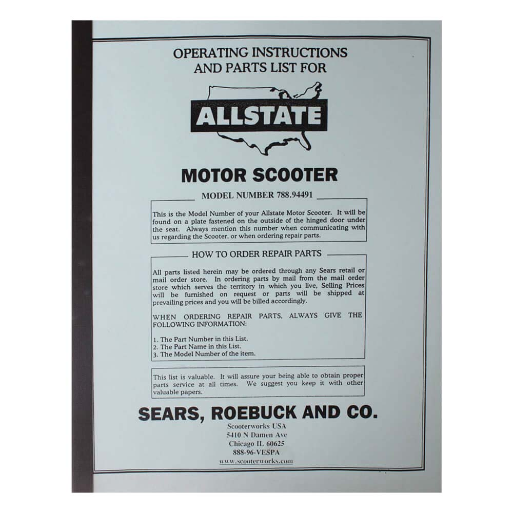 Allstate Manual (Parts Guide); 788-94491