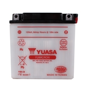 Yuasa, Battery (YB9-B); PX Electric Start, ET4, Stella, etc.