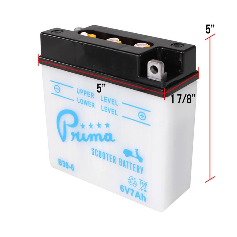6 volt battery for vespas without turn signals scooterworks usa. Black Bedroom Furniture Sets. Home Design Ideas