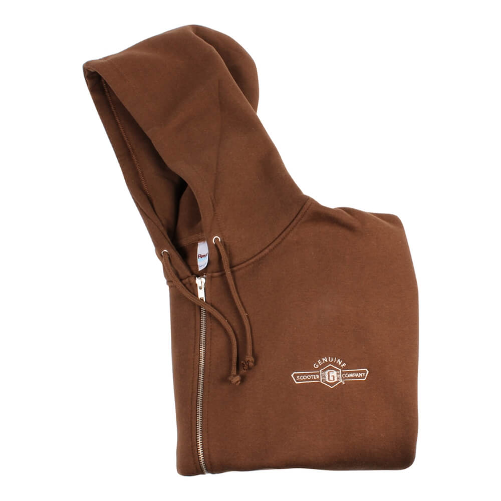 Genuine Zip-up Hoodie (Brown)