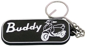 Keychain (Black, 2-Sided, Buddy, Rubber)S