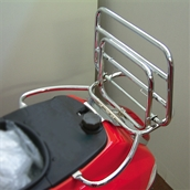 Cuppini Rear Rack (Chrome); Vespa LX
