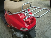Cuppini Rear Rack for Top Case; Vespa LXS