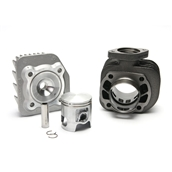 Malossi Cylinder Kit (72 cc, Cast Iron, 2T, AC); KymcoS