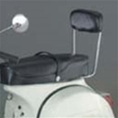 Backrest, Chrome - Most 60s-80s Vespas, Stella 2TS