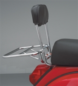 Cuppini Rear Rack (Folding, w/Backrest, Chrome)S