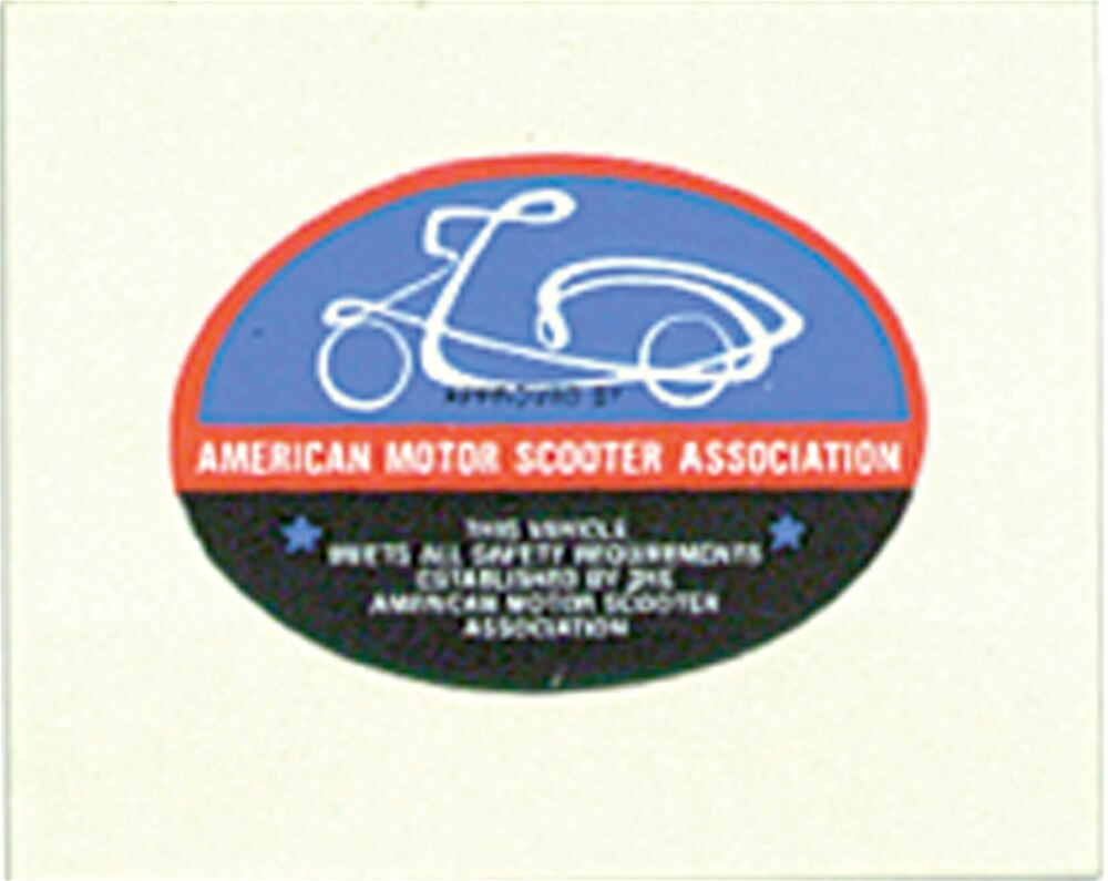 Decal, American Motor Scooter