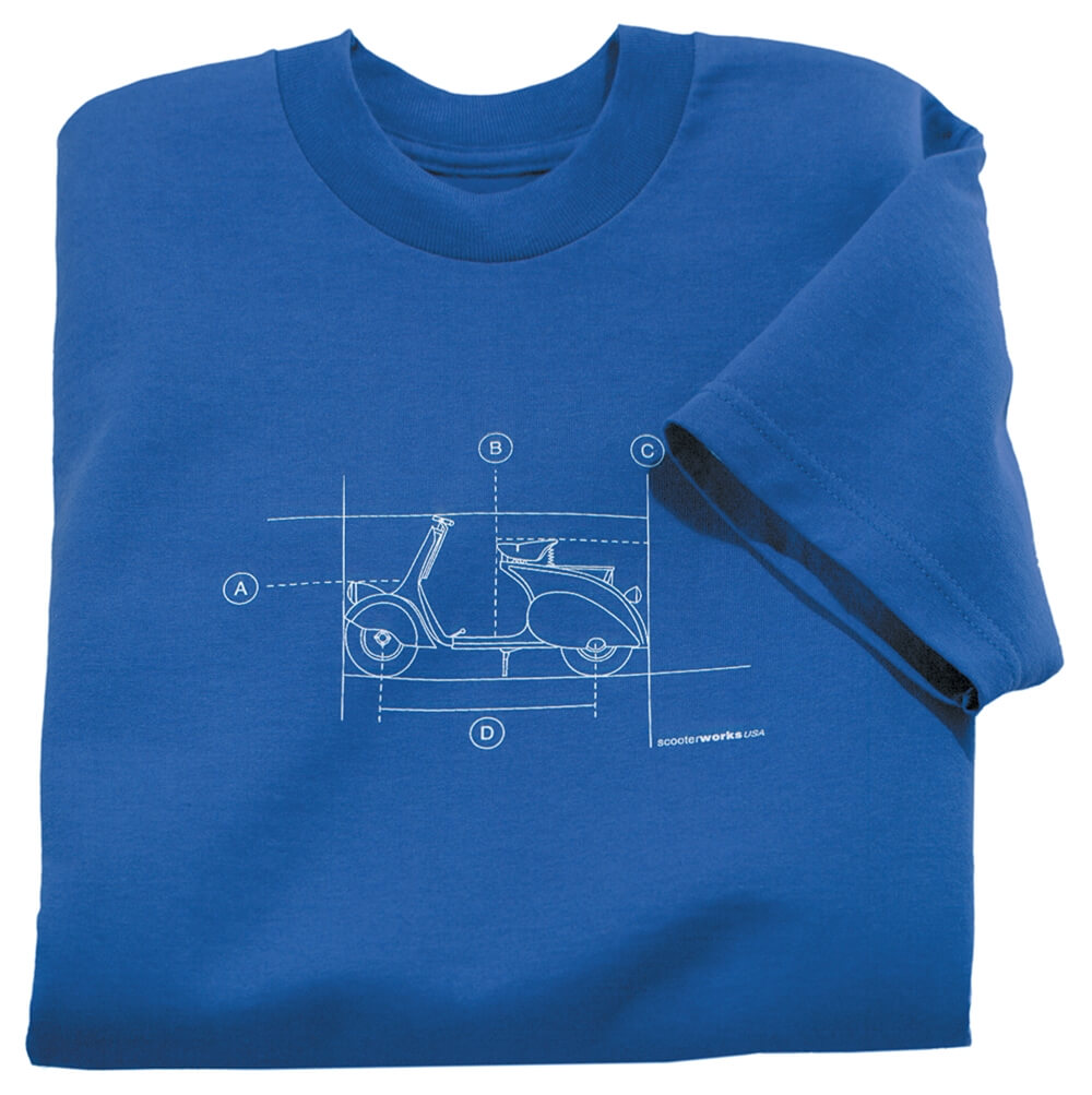 T-Shirt (Blueprint, Blue)