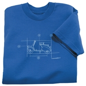 T-Shirt (Blueprint, Blue)S