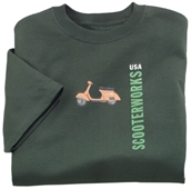 T-Shirt (Scooterworks Logo, Forest Green)S