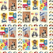 Wrapping Paper (Vespa Collage)S