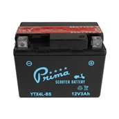 Prima Battery (12V TX4L-BS); Kymco Cobra, ET2, Genuine 50cc