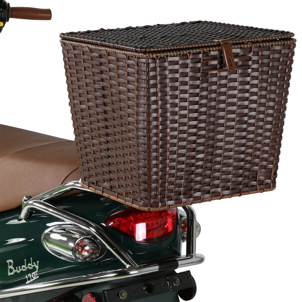 Rear Cargo Basket on a Scooter