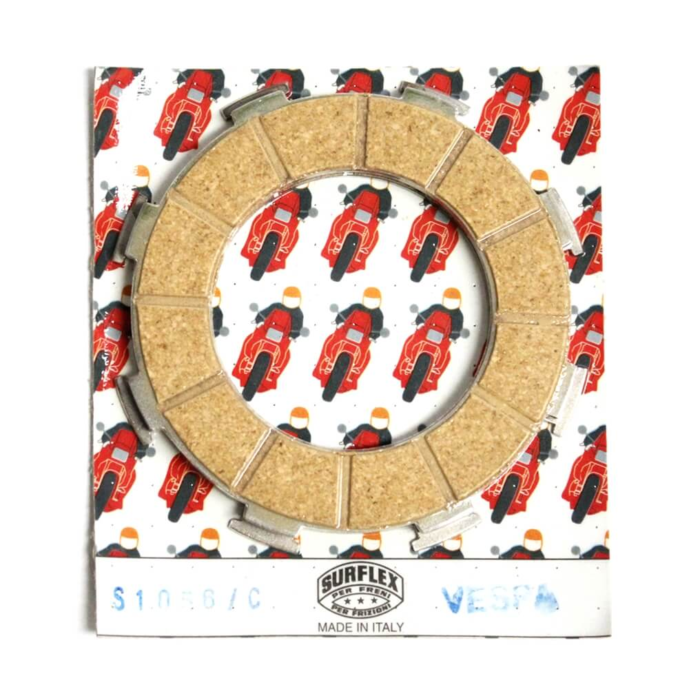 Surflex, Clutch Plate Set; Vespa P/PX, Genuine Stella