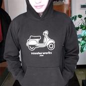 Hoodie (Scooterworks OG, Black, Pullover)S