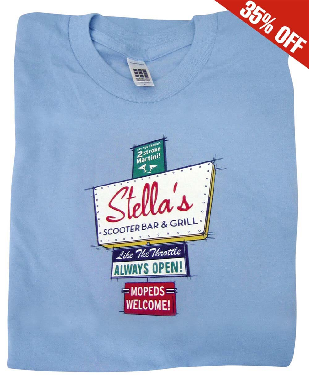 T-Shirt (Stella Motel Sign, Light Blue)