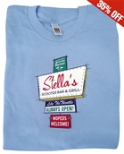 T-Shirt (Stella Motel Sign, Light Blue)S