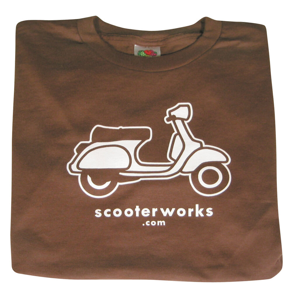 T- Shirt (Scooterworks Logo, Brown)