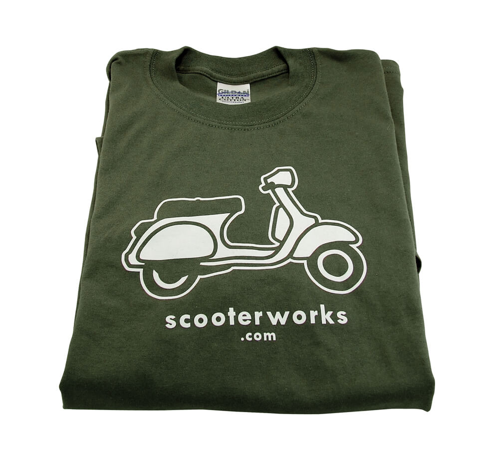T- Shirt (Scooterworks, Army Green)