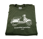 T- Shirt (Scooterworks, Army Green)S