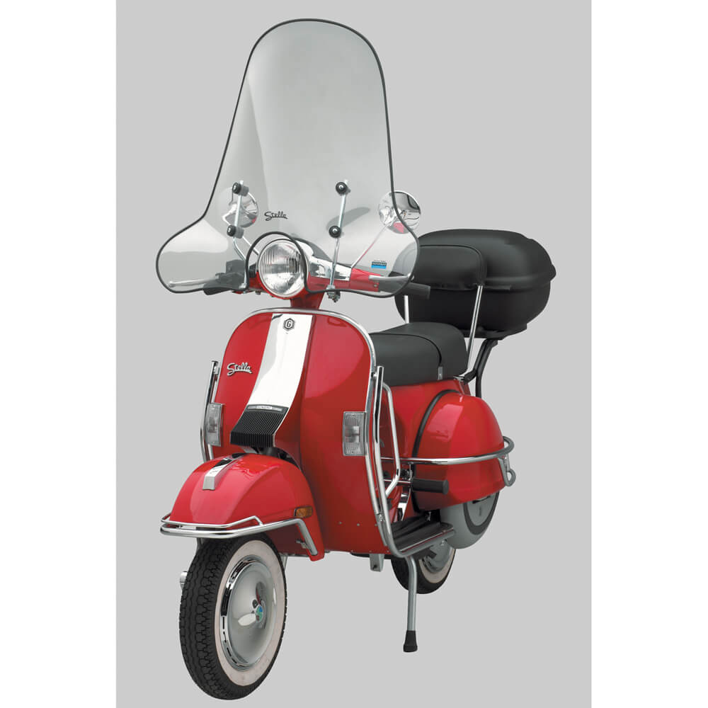 Cuppini Windscreen on a Vespa P Scooter